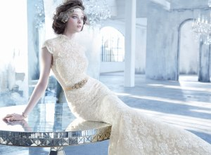 lazaro-bridal-lace-trumpet-gown-mandarin-collar-keyhole-belt-natural-waist-circular-skirt-chapel-train-3352_zm